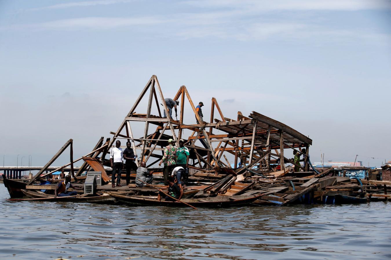 En juin 2016 l'école flottante s'est effondrée © reutersmedia