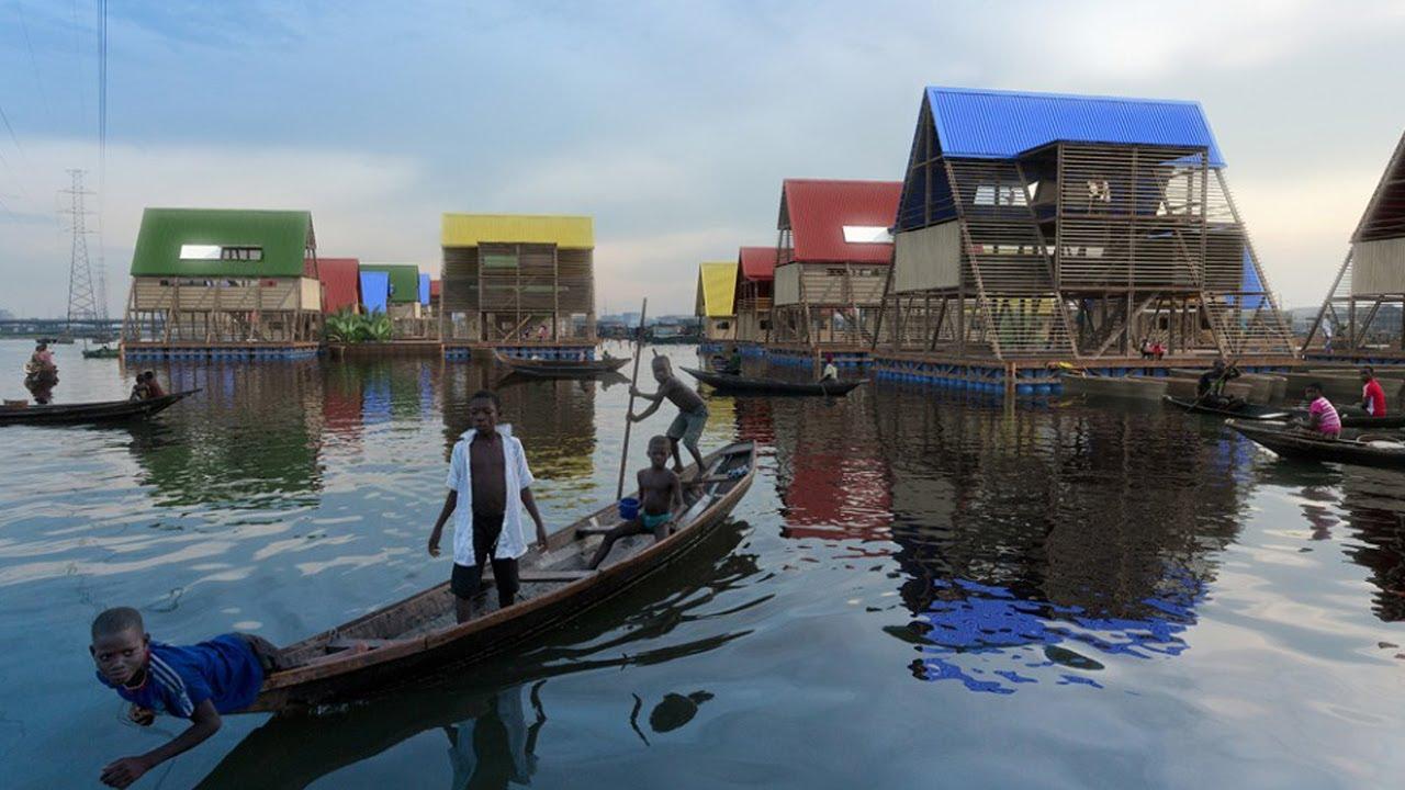 Vue du projet de construction d'habitations flottantes © NLÉ